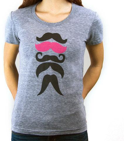 Choke Shirt Co. Stache Tee Women's
