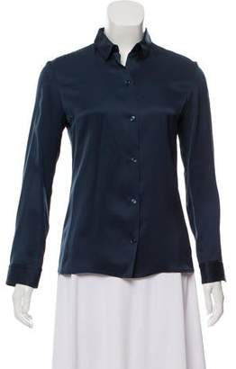 The Row Satin Button-Up Top
