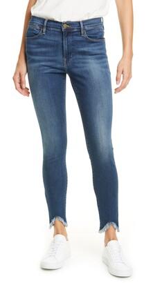 Frame Le High Waist Triangle Hem Ankle Skinny Jeans