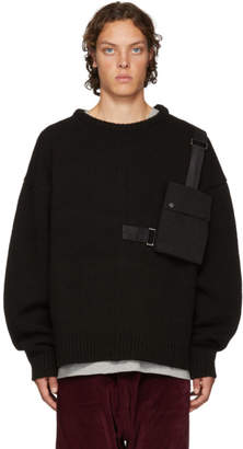D by D Black Outpocket Sweater