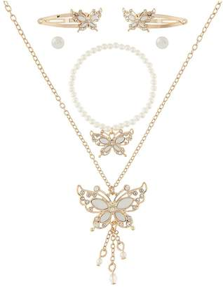 Monsoon Girls Mia Pretty Butterfly Jewellery Set