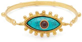 SYLVIA TOLEDANO Evil Eye turquoise and gold-plated cuff