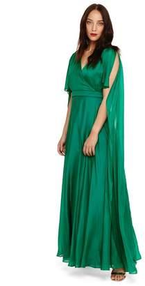 Phase Eight - Green Arwen Silk Drape Dress