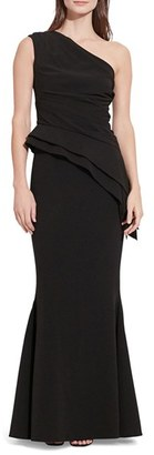 Women's Lauren Ralph Lauren Asymmetrical Stretch Gown $260 thestylecure.com