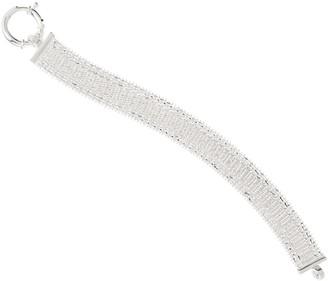 """Imperial Silver 7-1/4"""" Velvet Bracelet Sterling Silver 25.2g"""