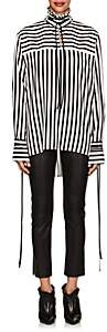 Derek Lam Women's Striped Silk Blouse - Black White