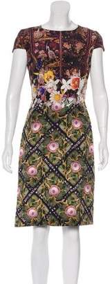 Mary Katrantzou Silk Printed Dress