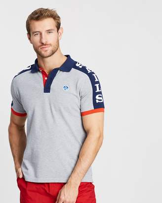North Sails Short Sleeve Polo With Graphic