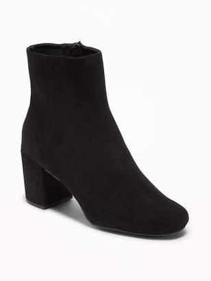 Old Navy Sueded Block Heel Boots for Women