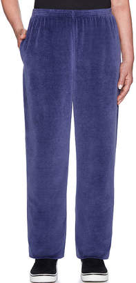 Alfred Dunner Comfortable Situation Womens High Waisted Straight Pull-On Pants