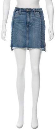 Paige Raw-Edge Mini Skirt