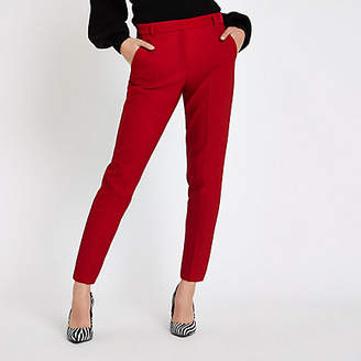 River Island Womens Red cigarette trousers