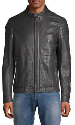 HUGO BOSS Racer Leather Jacket