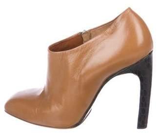 Dries Van Noten Leather Square-Toe Booties