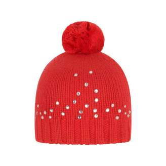 Silvian Heach KidsBaby Girls Red Diamante Bobble Hat