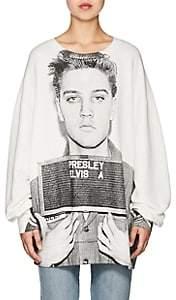 R 13 Women's Mugshot Stretch-Cotton Terry Sweatshirt - White