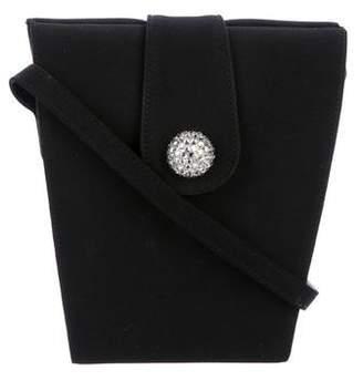 Stuart Weitzman Embellished Woven Evening Bag