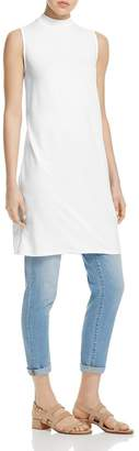 Eileen Fisher EileenFisher Womens Sleeveless Mock Neck Tunic Top M