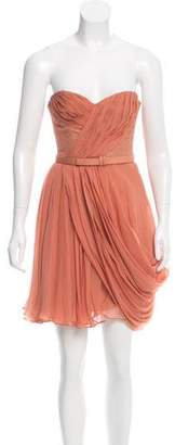 J. Mendel Silk Ruffled Dress
