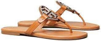 Miller Crystal-Logo Sandal, Leather