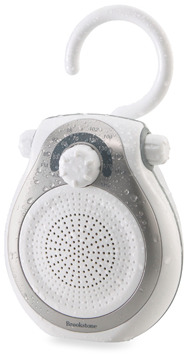 Brookstone Shower Tunes Water-Resistant AM/FM Radio