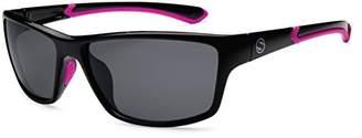 Sunbelt Athletique 314MPWHBL Wrap Polarized Sunglasses