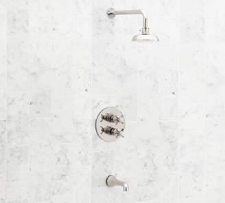 Pottery Barn Reyes Thermostatic Cross-Handle Bathtub & Shower Faucet Set