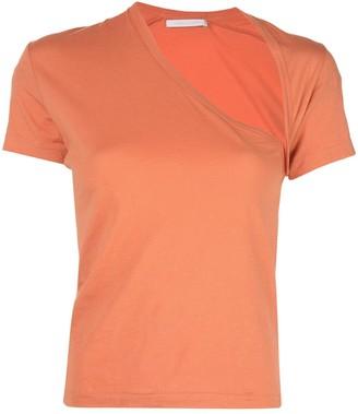 John Elliott asymmetric fitted t-shirt