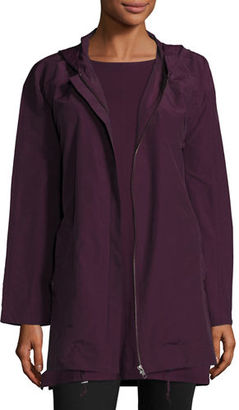 Eileen Fisher Lightweight Hooded Zip-Front Jacket $258 thestylecure.com
