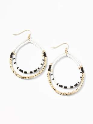 Old Navy Beaded Tiered-Hoop Earrings for Women