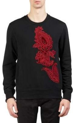 Alexander McQueen Brocade Paisley Crewneck Sweater