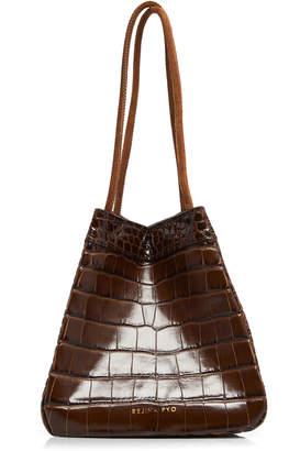 REJINA PYO Rita Croc Embossed Leather Bag