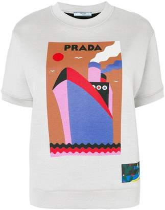 Prada boat-print sweatshirt