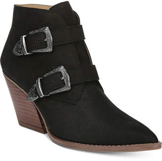 Franco Sarto Granton Block-Heel Pointed-Toe Ankle Booties