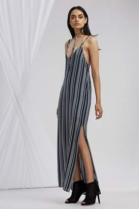 Finders Keepers IRA STRAP BACK DRESS navy stripe