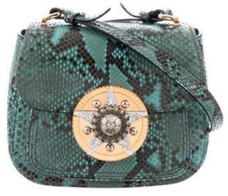 Miu Miu Python Dhalia Shoulder Bag Teal Python Dhalia Shoulder Bag
