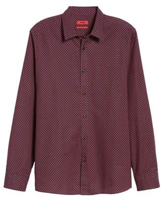 HUGO BOSS Elisha Extra Slim Fit Microprint Sport Shirt