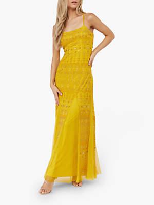 Monsoon Kim Maxi Dress, Yellow