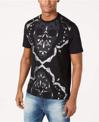 Sean John Men Dual Skull Metallic Graphic T-Shirt