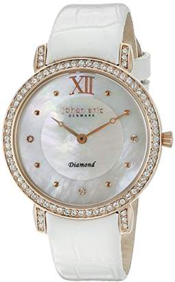 Johan Eric Women's JE7000-09-009.1 Ribe Analog Display Quartz White Watch