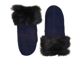 UGG Fabric Mitten with Fur Trim Extreme Cold Weather Gloves