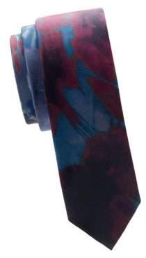 Valentino Printed Silk Slim Tie