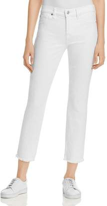 7 For All Mankind Roxanne Raw Hem Ankle Jeans in White Fashion