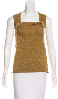 Undercover Metallic Sleeveless Sweater