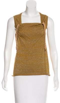 Undercover Metallic Sleeveless Sweater