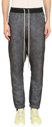 Rick Owens Black Silk Track Pants