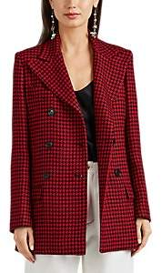 Barneys New York Women's Houndstooth Wool Double-Breasted Coat - Red