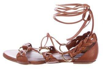 Ralph Lauren Collection Woven Multistrap Sandals