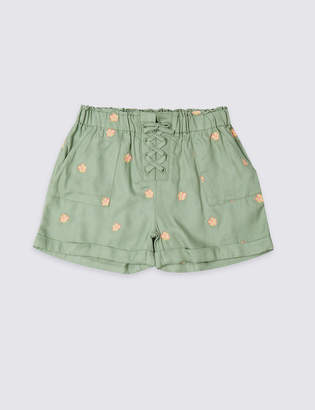 Marks and Spencer Embroidered Shorts (3-16 Years)