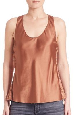 Helmut Lang Silk Tank Top $320 thestylecure.com